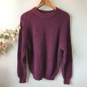 Eddie Bauer Purple Vintage Sweater
